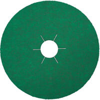 Klingspor Zirconia 125mm x 22mm Fibre Disc for Stainless Steel, Aluminium CS570 Box of 25